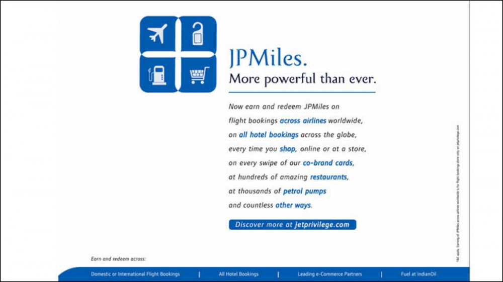 JP miles print ad