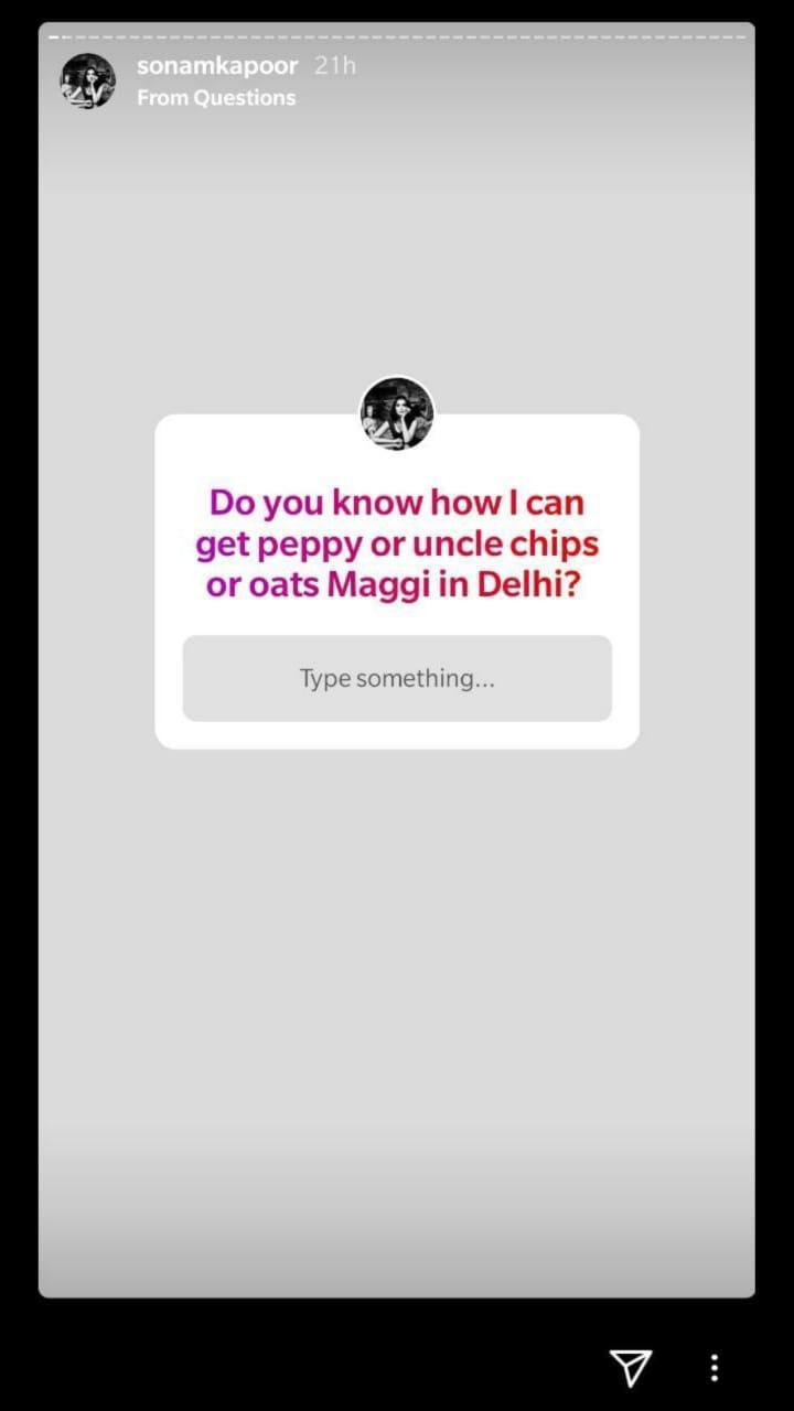 Sonam Kapoor's Instagram Story