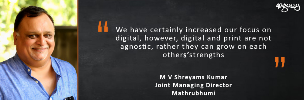 M V Shreyams Kumar, Joint Managing Director, Mathrubhumi