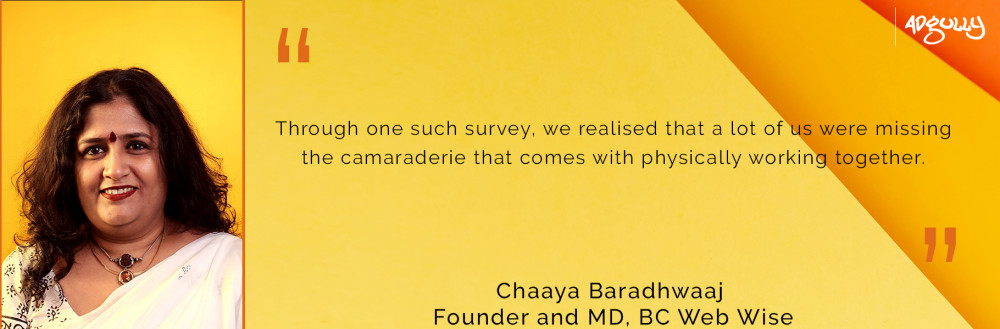 BC Web Wise, Founder and MD, Chaaya Baradhwaaj