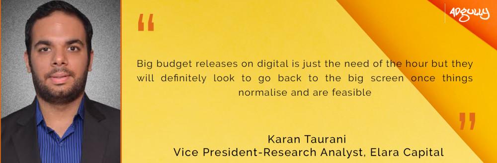 Karan Taurani, Vice-President - Research Analyst, Elara Capital
