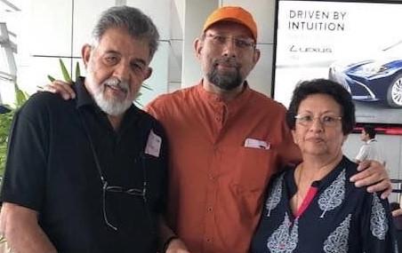 Nikhil Dey with his parents
