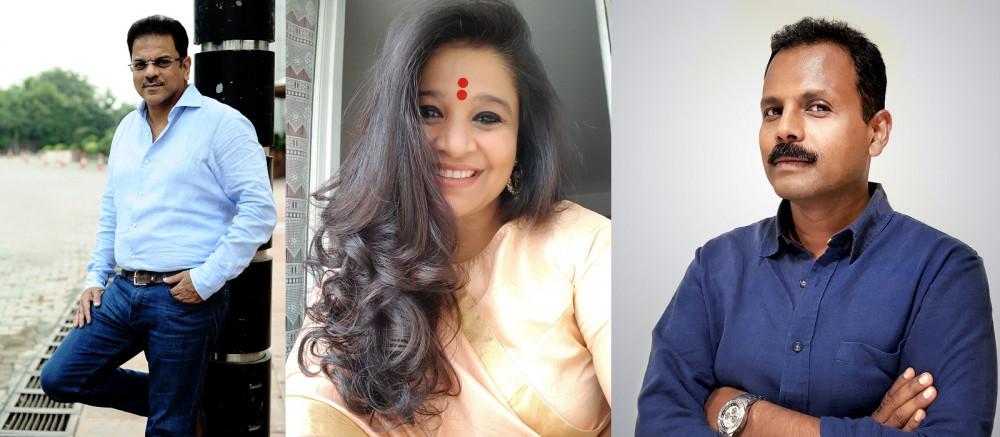 L-R: Rohit Ohri; Swati Bhattacharya; Robby Mathew