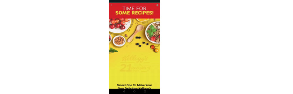Facebook Canvas for the 21 recipes
