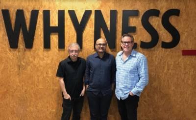 (L-R) Tony Gulisano, Ravi Deshpandey and Kevin Swanepoel