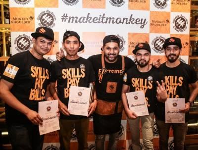 Top 4 winners with Pankaj Balachandran
