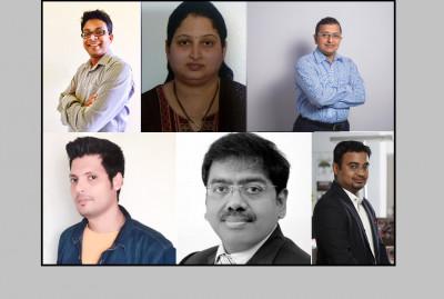 L-R: Shantanu Bhattacharyya, Priti Kende, Anshuman Misra, Ashwani Kumar, Dhirendra Singh, Kaustav Mukerji