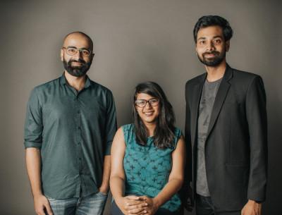 L-R: Mayank Gulati, Shriya Garg and Piyush Kedia