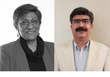 L-R: Preeti Reddy, Vishikh Talwar