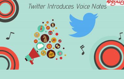 Twitter voice note