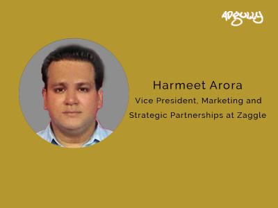 Harmeet Arora, Vice President, Marketing & Strategic Partnerships at Zaggle