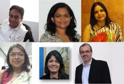 L-R & T-B: Krishnendu Dutta; Jyoti Malladi; Archana Gupta; Ananya Roy Mathur; Ruchi Govind; Amit Adarkar