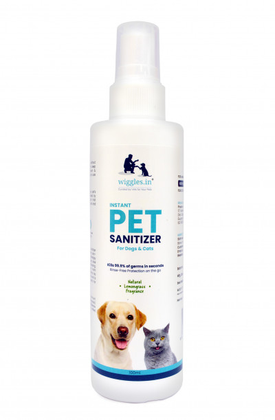 India's first 100% alcohol-free sanitizer for pets