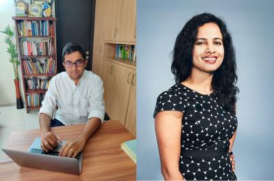 L-R: Arjun Mohan, CEO India of upGrad; Bindu Balakrishnan, Country Head India, DCMN