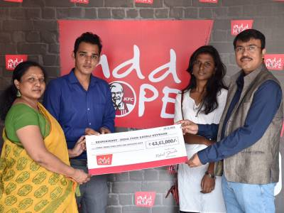 KFC India in association with Responsenet - India FoodAngels Network (IFAN), brings add HOPE™ to Maharashtra