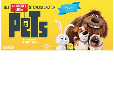 The Secret of Life of Pets comes on Hike Messenger!