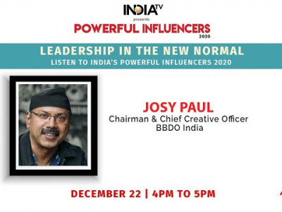 Powerful Influencers 2020 | Josy Paul - Chairman & Chief Creative Officer - BBDO India