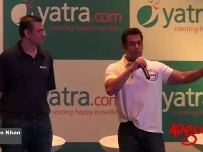 Adgully Report   Salman Khan chosen as the new brand ambassador for Yatra.com