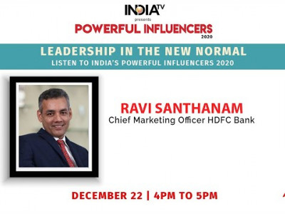 Powerful Influencers 2020 |  Ravi Santhanam - Chief Marketing Officer - HDFC Bank