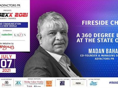 IMAGEXX 2021 | FIRESIDE CHAT | Madan Bahal, Co-Founder & Managing Director, Adfactors PR