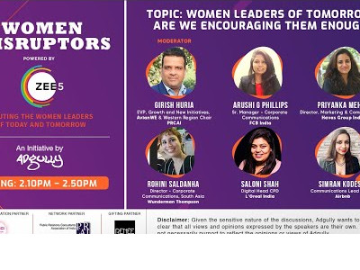 Women Disruptors 2021 | Panel 3 | Women leaders of tomorrow Are we encouraging them enough?