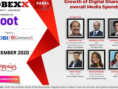 MOBEXX 2020 | Growth of Digital Share in overall Media Spends
