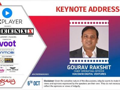 SCREENXX 2021 | Keynote Address | Gourav Rakshit, COO, Viacom18 Digital Ventures