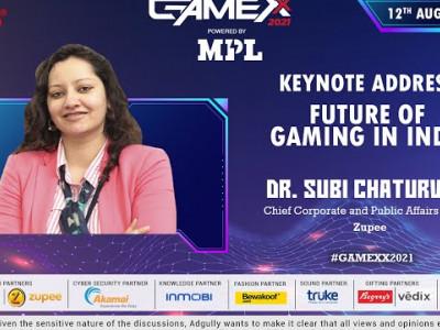 GAMEXX 2021 | Keynote Address | Future of Gaming in India | Dr. Subi Chaturvedi