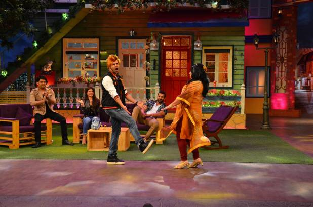 Starcast of Dishoom on the sets of The Kapil Sharma Show