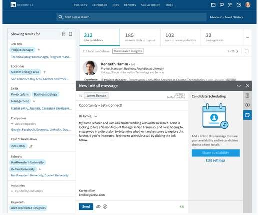 LinkedIn launches 'Scheduler' to automate candidate