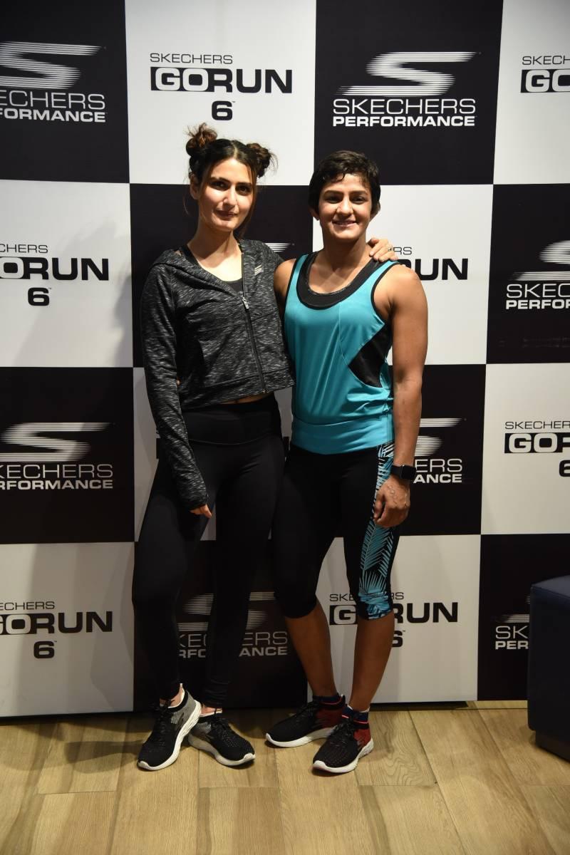 Fatima Sana Shaikh & Ritu Phogat face-off at the launch of Skechers
