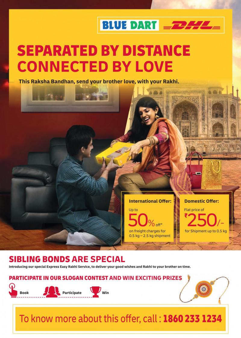 Blue Dart brings siblings together for Raksha Bandhan with