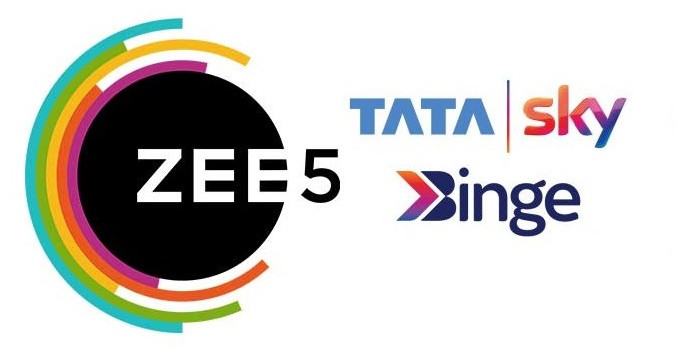 Image result for Zee5 & Tata Sky